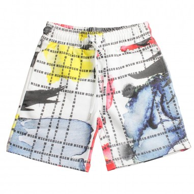 MSGM Boys multicoloured cotton bermuda shorts by MSGM Kids 01867319msgm19