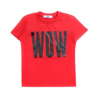 MSGM Boys jersey red t-shirt by MSGM Kids 01854019msgm19