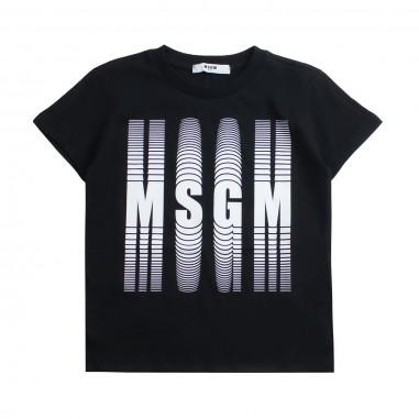 MSGM T-shirt jersey bambino nera by MSGM kids 01854111019msgm19