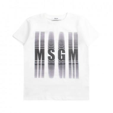 MSGM Boys white jersey t-shirt by MSGM Kids 01854100119msgm19