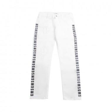 MSGM Boys white denim trousers by MSGM Kids 01855819msgm19