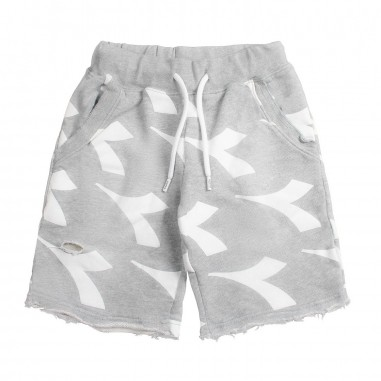 Diadora Boys diadora logo cotton bermuda shorts by Diadora Kids 1924410719diadora19