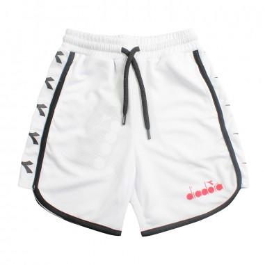 Diadora Boys white acetate bermuda shorts by Diadora Kids 1952400119diadora19