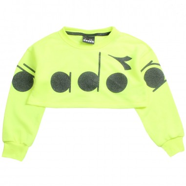 Diadora Girls fluorescent cropped sweatshirt by Diadora Kids 1964302319diadora19