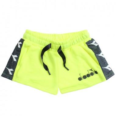 Diadora Shorts felpa giallo fluo bambina by Diadora Kids 1964602319diadora19