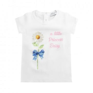 Monnalisa Girl jersey daisies t-shirt by Monnalisa 393600S619-19-0099monna19