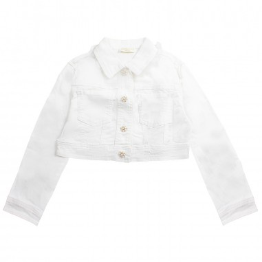 Monnalisa Girls white denim jacket by Monnalisa 793101R319-19-0001monna19