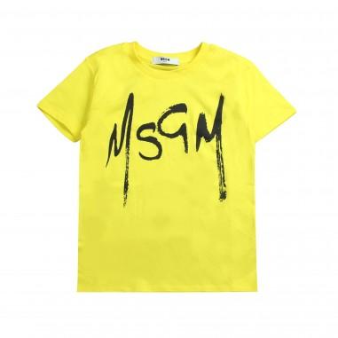 MSGM T-shirt jersey gialla unisex by MSGM kids 01861502019msgm19