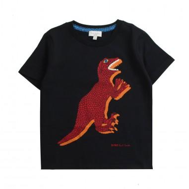 Paul Smith Junior T-shirt nera con dinosauro per bambino by Paul Smith Junior 5n1051202psmith19