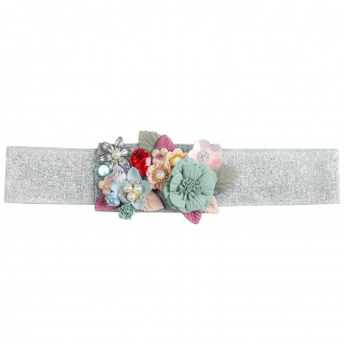 PM Paola Montaguti Kids Girls silver floral belt c904paola19