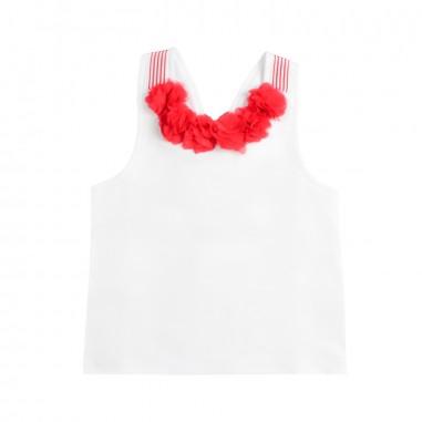 Piccola Ludo Girl white jersey top by Piccola Ludo bf4wb027tes0311b001picc19
