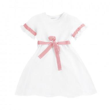 Piccola Ludo Girls lightweight cotton dress by Piccola Ludo bf4wb029tes0322b001picc19