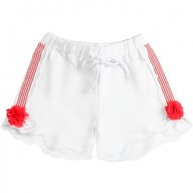 Piccola Ludo Girls lightweight cotton shorts by Piccola Ludo bf4wb028tes0322b001picc19
