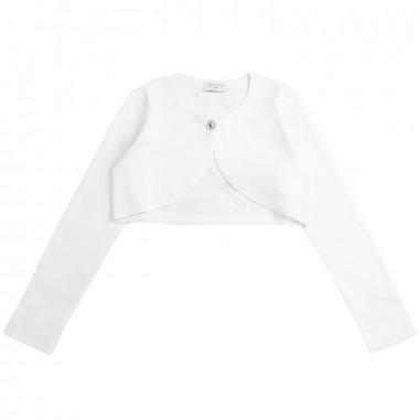 Monnalisa Girls white viscose cardigan by Monnalisa 17ccar0099monna19