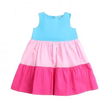 Piccola Ludo Girl cotton multicoloured dress by Piccola Ludo bf4wb015tes0308trf19picc19