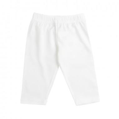 Piccola Ludo Girls white viscose leggings by Piccola Ludo bf4wb065tes0313c3832picc19