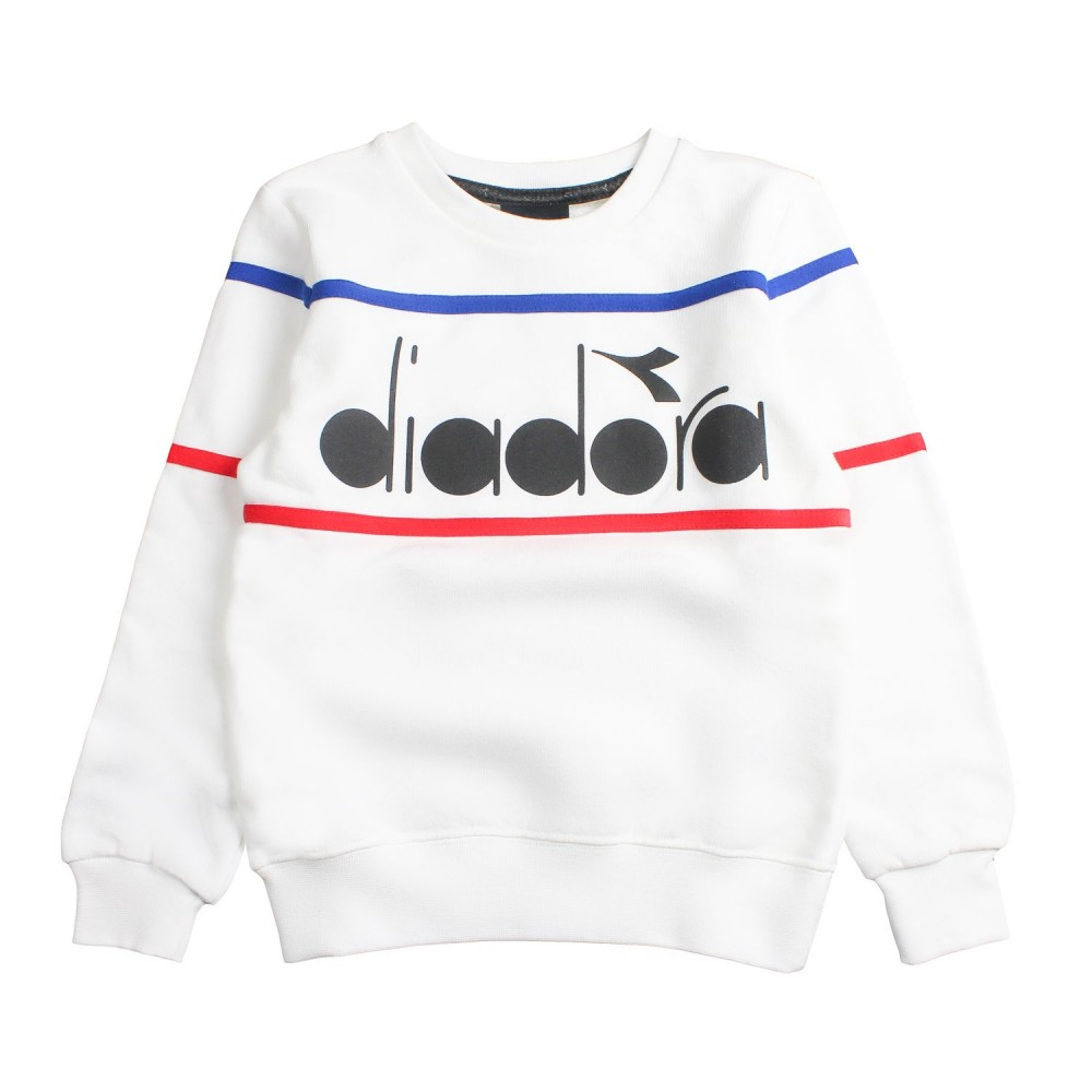7d90a1de84 Boys white logo sweatshirt by Diadora Kids