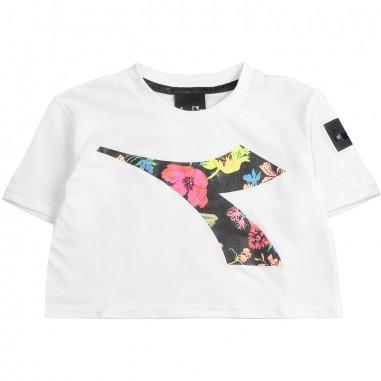 Diadora Girls white cropped t-shirt by Diadora Kids 1967000119diadora19