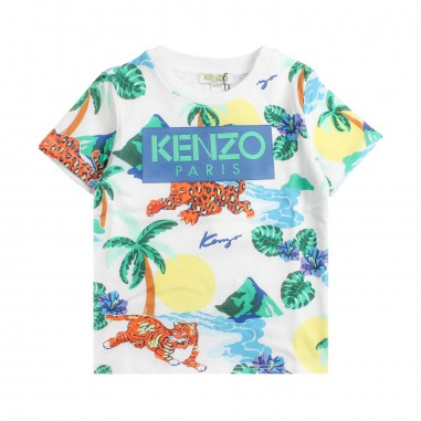 Kenzo T-shirt hawaii con logo per bambini by Kenzo Kids KN105981kenzo19
