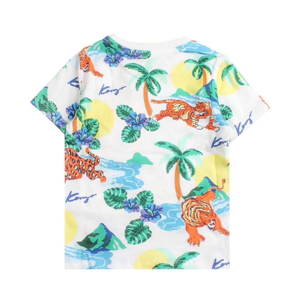 a4c1f5c74 T-shirt bianca hawai bambino by Kenzo Kids - Ivana Vesprini