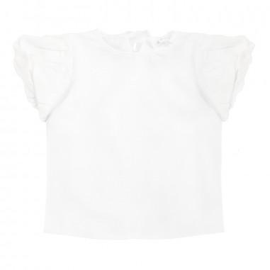 Piccola Ludo T-shirt jersey stretch bianca by Piccola Ludo bf4wb023tes0311b001picc19