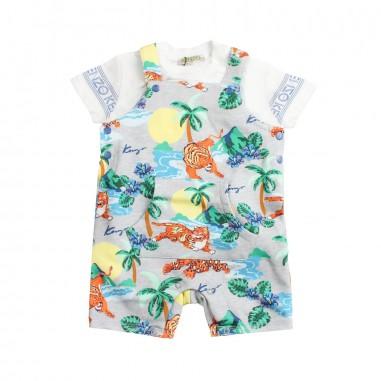 Kenzo Completo salopette e t-shirt per neonato by Kenzo Kids KN375071kenzo19