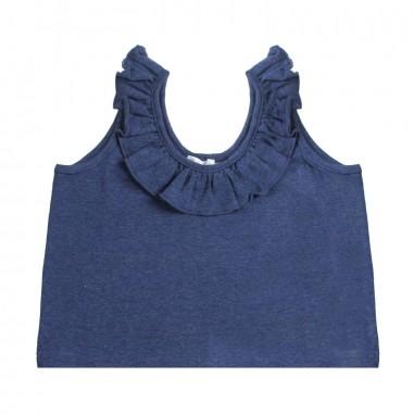Piccola Ludo Canotta jersey blu bambina by Piccola Ludo bf4wb066tes0329i122picc19