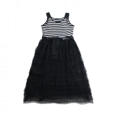 Monnalisa Girl tulle pleated dress by Monnalisa 49390419-19-0050monna19