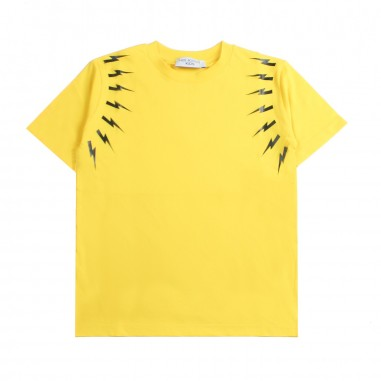 Neil Barrett Kids T-shirt gialla fulmini bambino by Neil Barrett Kids 018628020neil19