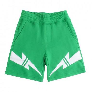 Neil Barrett Kids Bermuda felpa verde bambino by Neil Barrett Kids 018645080neil19