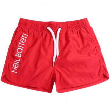 Neil Barrett Kids Boy red nylon swim trunks by Neil Barrett Kids 018854040neil19