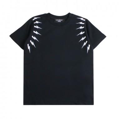 f9c5a1c2 Neil Barrett Kids Boys black lightning t-shirt by Neil Barrett Kids  018628110neil19