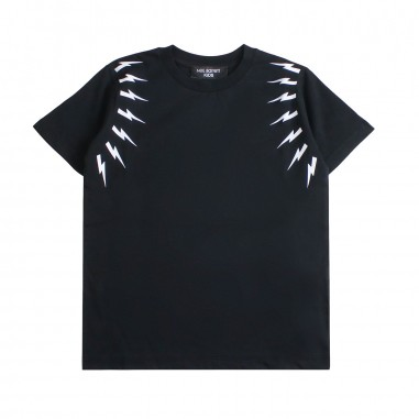 Neil Barrett Kids T-shirt nera fulmini bambino by Neil Barrett Kids 018628110neil19