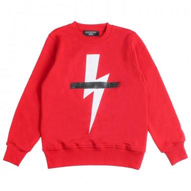 Neil Barrett Kids Boys red lightning sweatshirt by Neil Barrett Kids 018635040neil19