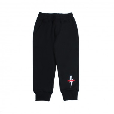Neil Barrett Kids Pantalone felpa nero bambino by Neil Barrett Kids 018648110neil19
