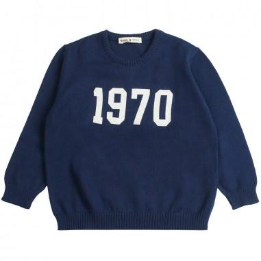 Babe&Tess Maglia filo cotone blu bambino - Babe&Tess kt04onemore19