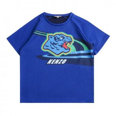 Kenzo T-shirt blu con tigre per bambini by Kenzo Kids KN1056848kenzo19
