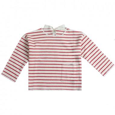 Babe&Tess Girl cotton striped sweatshirt - Babe&Tess nn18onemore19