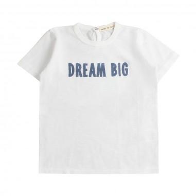Babe&Tess T-shirt cotone fiammato bianca - Babe&Tess be06onemore19