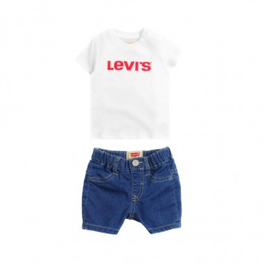 Levi's Set t-shirt & shorts jeans per neonati pac3 by Levi's Kids nn3700499levis19