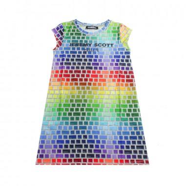 Jeremy Scott Kids GIrls multicoloured logo dress by Jeremy Scott Kids j4v001lbb1683081