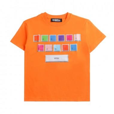 Jeremy Scott Kids Keyboard orange t-shirt by Jeremy Scott Kids j5m002lba0052472