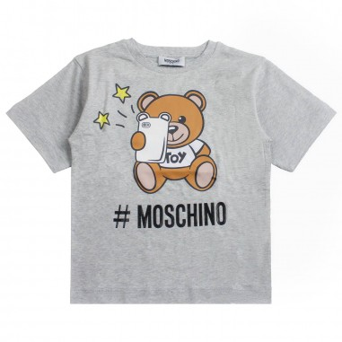 3297f9db Moschino Kids Girl moschino maxi t-shirt by Moschino Kids HMM029-60901-LBA10
