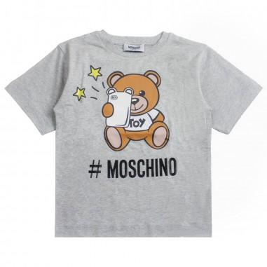 Moschino Kids Maxi t-shirt moschino bambina by Moschino Kids HMM029-60901-LBA10