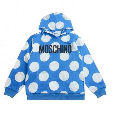 Moschino Kids Felpa bolle moschino bambino by Moschino Kids HUF02L-84221-LCB08