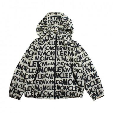Moncler Giubbino moncler lettering nylon hanoi bambina - Moncler Kids 4610805539gy032mo19