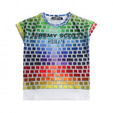 Jeremy Scott Kids Multicoloured jeremy scott logo t-shirt by Jeremy Scott Kids j4m004lbb1683081