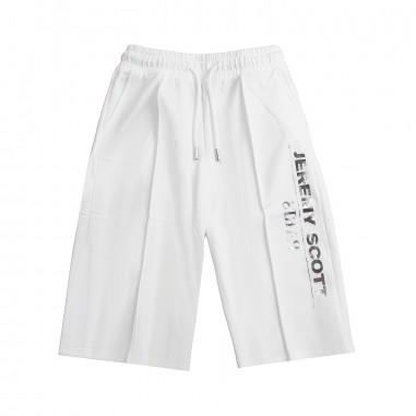 Jeremy Scott Kids Girl white wide trousers by Jeremy Scott Kids j4p001lda0010101