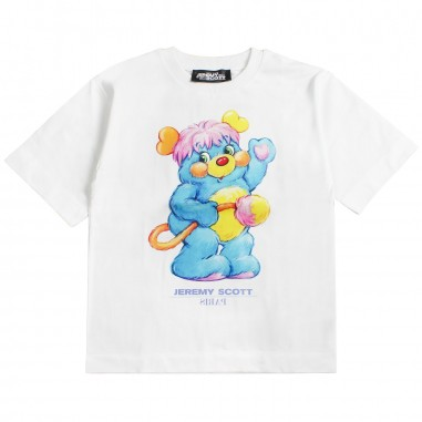 Jeremy Scott Kids Girls white animal t-shirt by Jeremy Scott Kids j5m001lba0010101