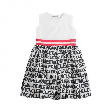 Moncler Abito jersey scritte moncler bambina - Moncler Kids 85745008790a034mo19